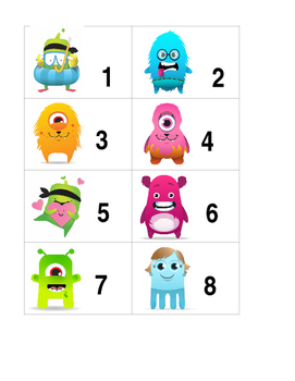 Class Dojo Number Cards 1-9