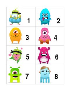 Class Dojo Number Cards 1-9