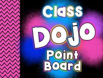 Class Dojo POINT BOARD! FREEEEBIE!