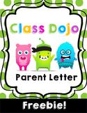 Class Dojo Parent Letter