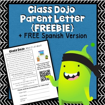 Class Dojo Parent Letter FREEBIE + Spanish Version
