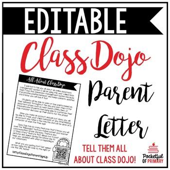 Class Dojo Parent Letter | EDITABLE