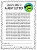 Class Dojo Parent Letter Editable