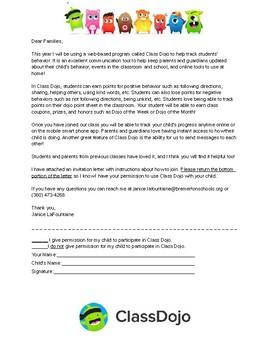 Class Dojo Permission Form (Editable)