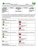 Class Dojo Personal Behavior Tracking Sheet WEEKLY