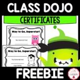 Class Dojo Point Certificates