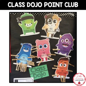 EDITABLE Class Dojo Point Club Clipchart