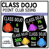 Class Dojo Point Club Signs
