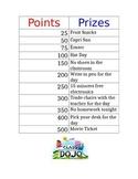 Class Dojo Point Prizes