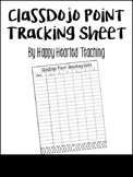 ClassDojo Point Tracking Sheet