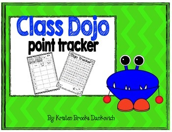 Class Dojo Point Tracker FREEBIE!
