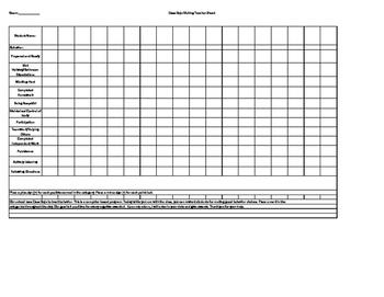 Class Dojo Point Tracker for a Substitute Teacher