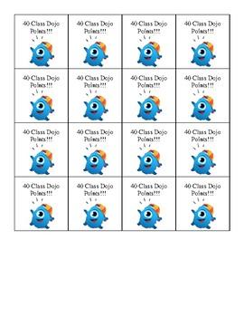 Class Dojo Points Brag Tags