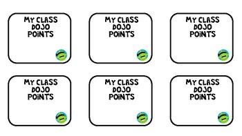 Class Dojo Points Desk Tags