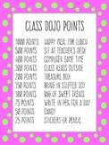 Class Dojo Point Rewards