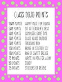 Class Dojo Point Rewards