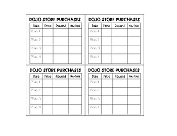 Class Dojo Points Tracker for Target Adhesive Labels