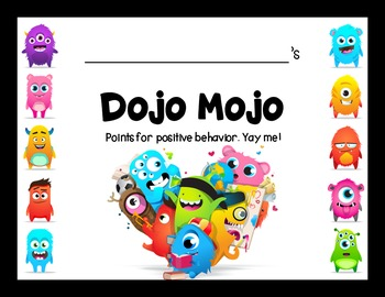 Class Dojo Positive Points Punch Cards {EDITABLE FREEBIE}