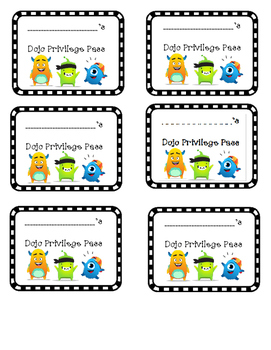 Class Dojo Privilege Pass