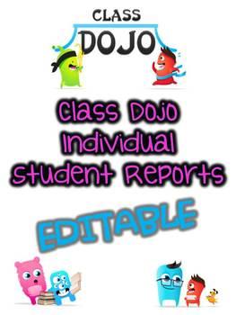 Class Dojo Report- Editable