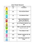 Class Dojo Reward Chart