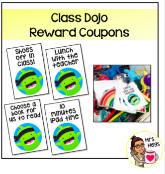 Class Dojo Reward Coupons - Middle & Upper Primary