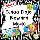 Class Dojo ~ Reward Ideas (FREEBIE) Editable