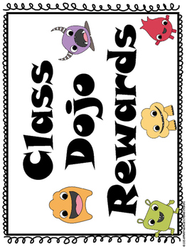 Class Dojo Reward Menu and Reward Coupons