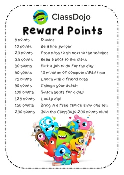 Class Dojo Reward Points