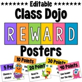 Class Dojo Reward Posters *Editable*