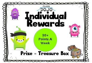 Class Dojo Reward Sign