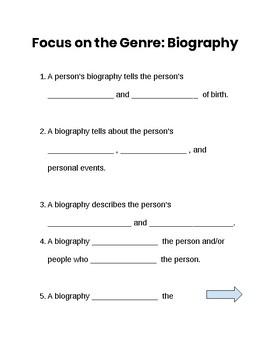 Benchmark Literacy- Third Grade- Unit 1 Biography Notes