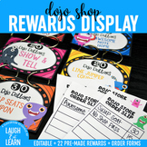 Class Dojo // Classroom Shop Rewards Display