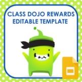 Class Dojo Rewards Editable Template