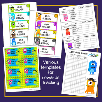 Class Dojo Rewards Kit Editable Tpt