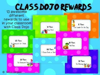 Class Dojo Rewards Poster- FREEBIE