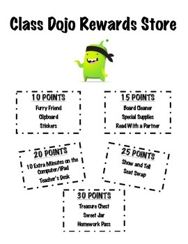 Class Dojo Rewards Store