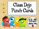 Class Dojo Student Punch Cards