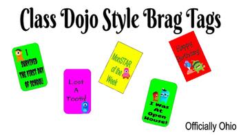 Class Dojo Style Brag Tags