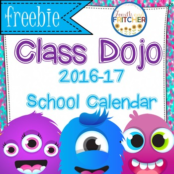 Class Dojo-Themed Calendar Pages {FREEBIE}