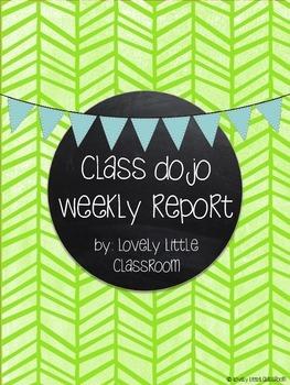 Class Dojo Weekly Report