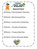 Class Dojo Weekly Reward Chart