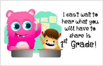 Class Dojo Welcome Post Cards