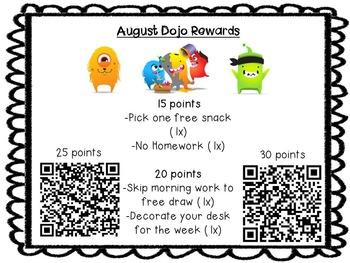 Class Dojo Rewards (Covers Full Year)