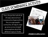 Class Dominance Activity