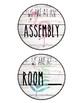 Classroom Door Signs ~ Flamingo