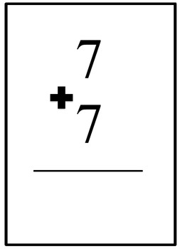 Class Drills LARGE Flash Cards - Doubles and Zeros Addition