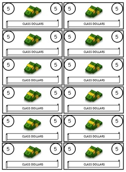 Class Economy Class Dollars Money Template