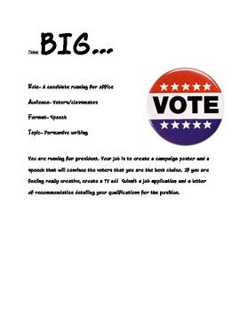 Class Election/ Persuasive Writing