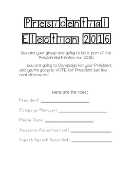 Class Elections!